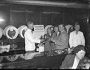 29/09/1954<br /> 09/29/1954<br /> 29 September 1954<br /> Licensed Victuallers Association, Lichfield, Brownhills and Districts, visit to Arthur Guinness and Son., St. James's Gate, Dublin. The visitors try a sample!