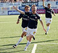Fotball <br /> Tippeligaen<br /> Marienlyst Stadion<br /> 20.07.08<br /> Strømsgodset  v  Molde  4-0<br /> Foto: Dagfinn Limoseth, Digitalsport<br /> Fredrik Winsnes  og Steffen Nystrøm  , Strømsgodset<br /> jubler