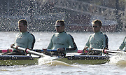 PUTNEY, LONDON, ENGLAND, 18.03.2006, Pre 2006 Boat Race Fixture, Cambridge UBC vs Leander BC. Cambridge's three German internationals, left to right, Sebastian Schulte. 4. Thorsten Engelmann, 3. Sebastian Thormann,  rowing  over part of the Championship Course  from Putney to Mortlake.   © Peter Spurrier/Intersport-images.com.[Mandatory Credit Peter Spurrier/ Intersport Images] Varsity Boat Race, Rowing Course: River Thames, Championship course, Putney to Mortlake 4.25 Miles