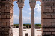 Ruins of basilica of the old Bulgarian capital Pliska