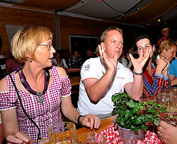 Mat Strachan, WMRT Sales Director, joins the guests at Match Race goes Lederhose und Dirndl. Photo:Chris Davies/WMRT