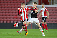 Southampton Armani Little on the ball during the Barclays U21 Premier League match between U21 Southampton and U21 Manchester United at the St Mary's Stadium, Southampton, England on 25 April 2016. Photo by Phil Duncan.