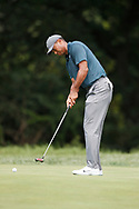 Tiger Woods (USA) putts on the 9th hole during the first round of the 100th PGA Championship at Bellerive Country Club, St. Louis, Missouri, USA. 8/9/2018.<br /> Picture: Golffile.ie | Brian Spurlock<br /> <br /> All photo usage must carry mandatory copyright credit (© Golffile | Brian Spurlock)