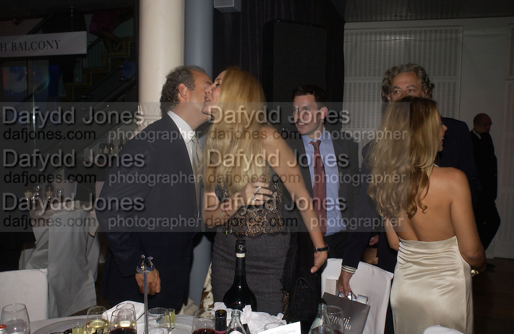 Charles Finch and Jerry Hall. GQ Men Of The Year Awards at the Royal Opera House, London. September 6, 2005 in London, England, ONE TIME USE ONLY - DO NOT ARCHIVE  © Copyright Photograph by Dafydd Jones 66 Stockwell Park Rd. London SW9 0DA Tel 020 7733 0108 www.dafjones.com