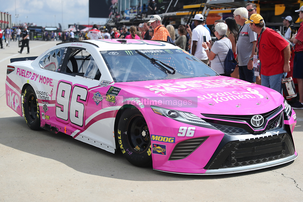 September 29, 2018 - Charlotte, NC, U.S. - CHARLOTTE, NC - SEPTEMBER 29: #96: Jeffrey Earnhardt, Gaunt Brothers Racing, Toyota Camry American Soldier Network \ Xtreme Concepts leaving the garages during the Monster Energy NASCAR Cup Series Playoff Race Bank of America ROVAL 400 on September 29, 2018, at Charlotte Motor Speedway in Concord, NC. (Photo by Jaylynn Nash/Icon Sportswire) (Credit Image: © Jaylynn Nash/Icon SMI via ZUMA Press)