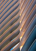 Detail of Fiber-Reinforced Polymer solar cladding of the Walbrook Office Building, London. Built 2010. Architect: Foster and Partners. Engineer: Arup