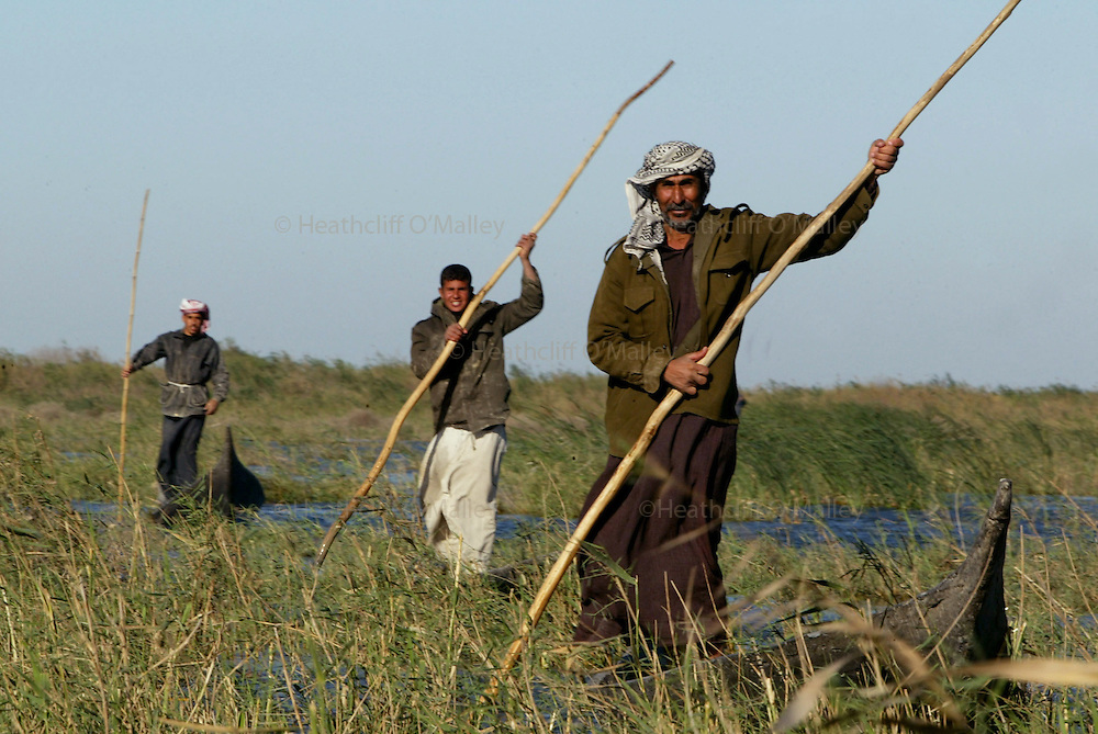 Pic by Heathcliff O'malley.The Marsh Arabs of Southern Iraq,who after years of persecution and their habitat destroyed by the hands of the dictator Saddam Hussein,have begun returning to their recently reflooded homeland,south of Nasiriyah.They hope to rebuild their lives in what they hope will be a more just and humane New Iraq,but also to rise from the abject poverty that they have known throughout their history.