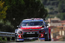 October 28, 2018 - Barcelona, Catalonia, Spain - The French driver, Sebastien Loeb, and his co-driver, Daniel Elena of Citren Total Abu Dhabi WRT during the last day of WRC Rally Racc Catalunya Costa Daurada, on October 28, 2018 in Salou, Spain. (Credit Image: © Joan Cros/NurPhoto via ZUMA Press)