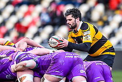 Newport's Ryan James in action - Mandatory by-line: Craig Thomas/Replay images - 04/02/2018 - RUGBY - Rodney Parade - Newport, Wales - Newport v Ebbw Vale - Principality Premiership