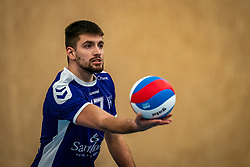 Vasilis Madilaris of Vocasa in action during the first league match in the corona lockdown between Talentteam Papendal vs. Vocasa on January 13, 2021 in Ede.