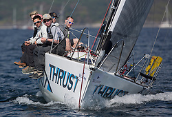 Day three of the Silvers Marine Scottish Series 2016, the largest sailing event in Scotland organised by the  Clyde Cruising Club<br /> Racing on Loch Fyne from 27th-30th May 2016<br /> <br /> 5585C, Thrust, Richard Shellcock, Oban SC, Prism 28<br /> <br /> Credit : Marc Turner / CCC<br /> For further information contact<br /> Iain Hurrel<br /> Mobile : 07766 116451<br /> Email : info@marine.blast.com<br /> <br /> For a full list of Silvers Marine Scottish Series sponsors visit http://www.clyde.org/scottish-series/sponsors/