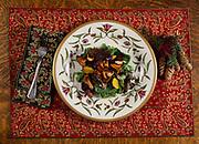Warm crimini mushroom and spinach salad, Winterlake Lodge, Finger Lake, Alaska.