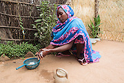 Habsita Moussa, 30, washes her hands at home in Mongo, Guera province, Chad on Wednesday October 17, 2012.