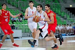 Aleksandar Cvetkovic of Serbia during basketball match between National teams of Serbia and Spain in for third place match of U20 Men European Championship Slovenia 2012, on July 22, 2012 in SRC Stozice, Ljubljana, Slovenia. Spain defeated Serbia 67:66. (Photo by Matic Klansek Velej / Sportida.com)