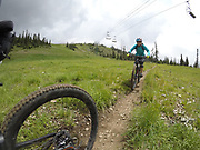 SHOT 8/5/17 2:26:23 PM - GoPro Hero 5 photos while riding Brian Head Resort in Brian Head, Utah with Vesta Lingvyte of Denver, Co. (Photo by Marc Piscotty / © 2017)