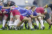 Shepards Bush, West London, UK., 30.09.2001, Fabien Galthie,  London Wasps vs Stade Francais, Loftus Road Stadium,<br /> Heineken European Rugby Cup,<br /> [Mandatory Credit: Peter Spurrier/Intersport Images],