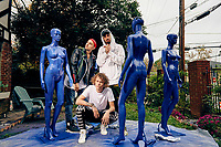 EDM group Cheat Codes photographed on the set of the video Feels Great for 300 Entertainment