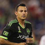 Marco Pappa, Seattle Sounders, in action during the New York Red Bulls Vs Seattle Sounders, Major League Soccer regular season match at Red Bull Arena, Harrison, New Jersey. USA. 20th September 2014. Photo Tim Clayton
