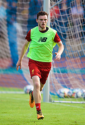 ROTTACH-EGERN, GERMANY - Friday, July 28, 2017: Liverpool's Andy Robertson during a training session at FC Rottach-Egern on day three of the preseason training camp in Germany. (Pic by David Rawcliffe/Propaganda)