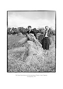 The Ryan ladies helping out with the harvest at Thurles, County Tipperary.<br /> <br /> 2nd September 1953<br /> 02/09/1953