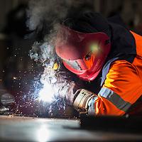 British Steel - welding in the maintenance department