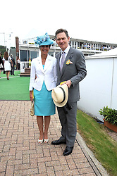 ANTHONY & GEORGINA ANDREWS at the 3rd day of the 2008 Glorious Goodwood racing festival at Goodwood Racecourse, West Sussex on 31st July 2008.<br /> <br /> NON EXCLUSIVE - WORLD RIGHTS