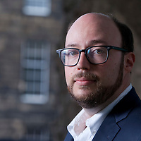 Sean Michaels, the award-winning Canadian novelist, music critic, and blogger, at the Edinburgh International Book Festival 2015. Edinburgh, Scotland. 22nd August 2015 <br /> <br /> Photograph by Gary Doak/Writer Pictures<br /> <br /> WORLD RIGHTS