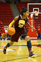 15 March 2012:  Crystal Bradford during a first round WNIT basketball game between the Central Michigan Chippewas and the Illinois Sate Redbirds at Redbird Arena in Normal IL
