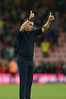 Football - 2021 / 2022 EFL Sky Bet Championship -AFC Bournemouth vs. West Bromwich Albion - The Vitality Stadium<br /> <br /> West Bromwich Albion Head Coach Valerien Ismael salutes the traveling West Bromwich Albion fans after the final whistle at the Vitality Stadium (Dean Court) Bournemouth <br /> <br /> COLORSPORT/Shaun Boggust