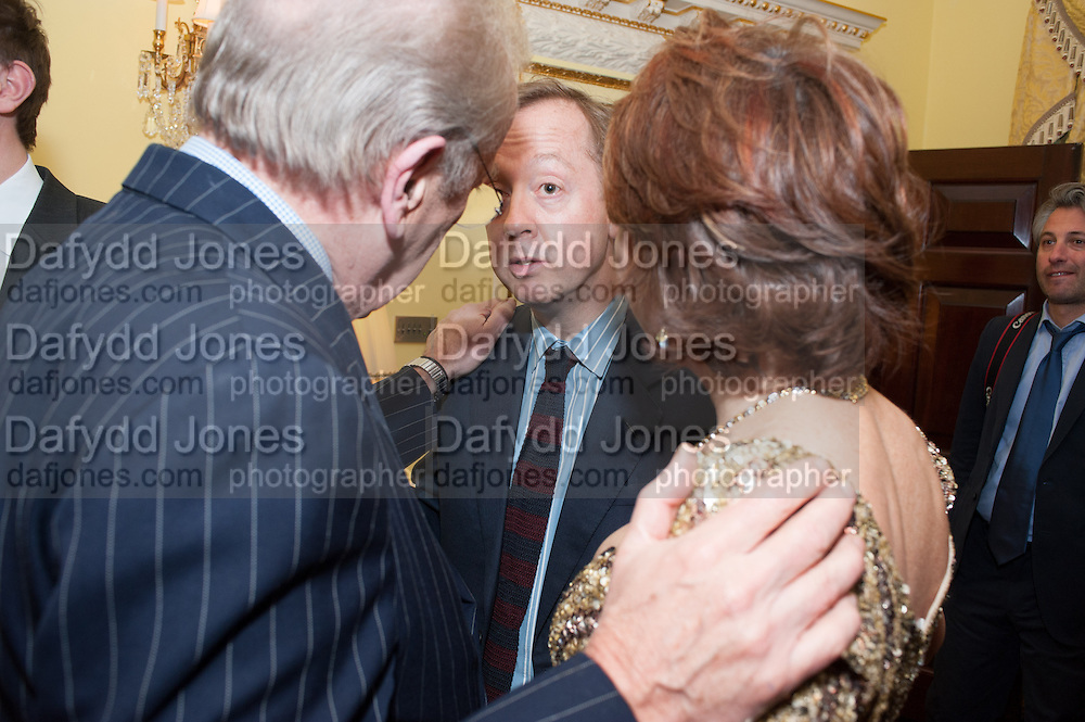 SIR DAVID FROST; GEORDIE GREIG; KATHY LETTE, Tatler magazine Jubilee party with Thomas Pink. The Ritz, Piccadilly. London. 2 May 2012