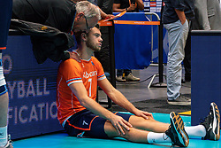 11-08-2019 NED: FIVB Tokyo Volleyball Qualification 2019 / Netherlands - USA, Rotterdam<br /> Final match pool B in hall Ahoy between Netherlands vs. United States (1-3) and Olympic ticket  for USA / Gijs Jorna #7 of Netherlands