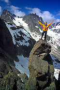 Trekking in the Verwall mountains in Tyrol, Austria