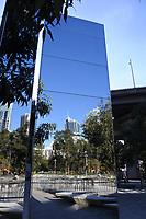 Mirrored plinth at Darling Harbour, Sydney Australia