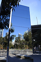 Mirrored plinth at Darling Harbour, Sydney Australia