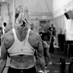 Angie Pye does a deadlift at Reebok CrossFit Ramsay's Grand Re-opening