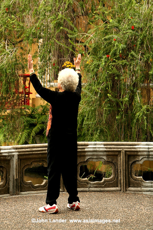 Tai Chi at Lou Lim Ioc Chinese Garden - Lou Lim Ioc Garden is a garden in Macau. The garden was built in 1906 by local merchant Lou Kau as part of his residence. It was later turned over to the Macau government in 1974 as a public park.