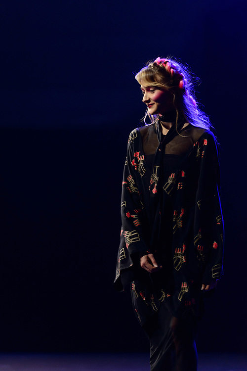 2019 Fashion Week El Paseo, in Palm Desert, California. Designer Zandra Rhodes shows her latest collection and closes the night with a fabulous display of colorful garments.  Photos by Tiffany L. Clark