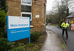 © Licensed to London News Pictures. 04/02/2019. London, UK. Highgate Mental Health Centre on Dartmouth Park Hill in North London were a 46 year old man was found dead following a fire. Two men were arrested at the scene on suspicion of murder. Metropolitan Police have launched a murder investigation. Photo credit: Ben Cawthra/LNP