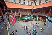 Golub Dobrzyń, 2011-07-10. Dziedziniec renesansowego zamku krzyżackiego w Golubiu-Dobrzyniu