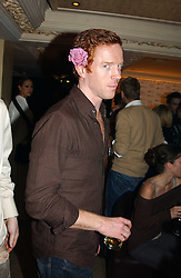 Actor DAMIAN LEWIS at a party for the ICM Model agency held at Embassy, Old Burlington Street, London W1 on 14th February 2005.<br />