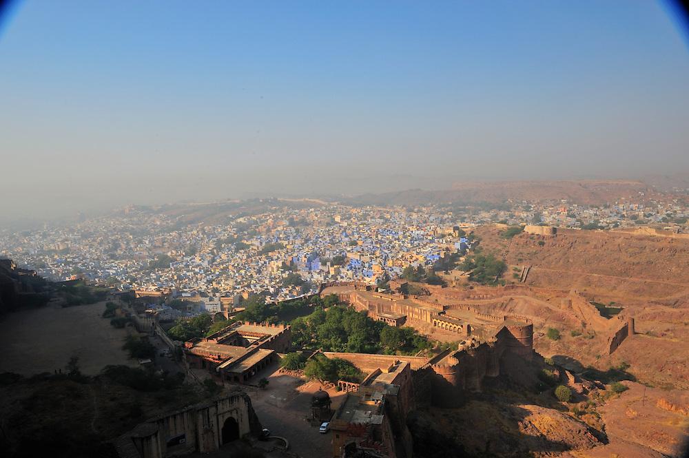 View of Jodphur from Mehrangarh Fort battlements