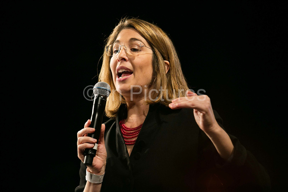 Writer and campaigner Naomi Klein. Pathway to Paris set up by Jesse Paris Smith and Rebecca Foon. Live at Le Trianon, Paris coinciding with the climate summit, the COP21. Pathway to Paris is a collection of artists, activists, academics, musicians, politicians, innovators coming together to make our voices heard at the UN climate talks in Paris in December 2015.