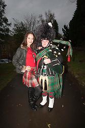 Miss Scotland Jennifer Reochs with piper Danny Sweeney..MISS WORLD 2011 VISITS SCOTLAND..Pic © Michael Schofield.