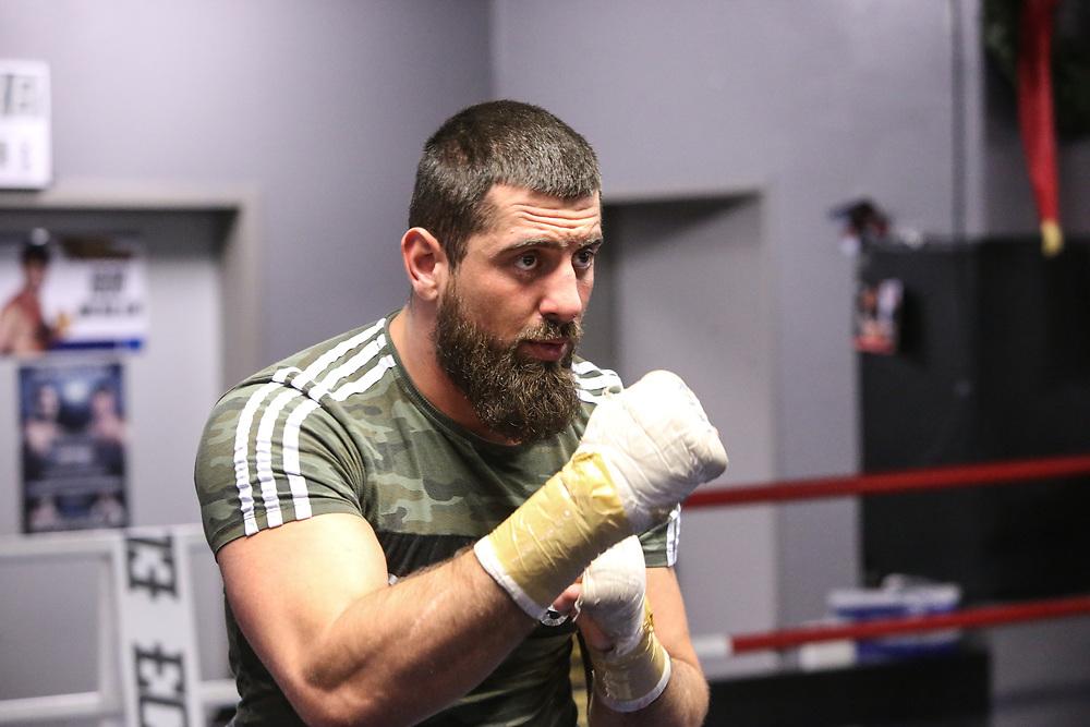 BOXEN: EC Boxing, Training, Hamburg, 30.01.2020<br /> Nikola Milacic<br /> © Torsten Helmke
