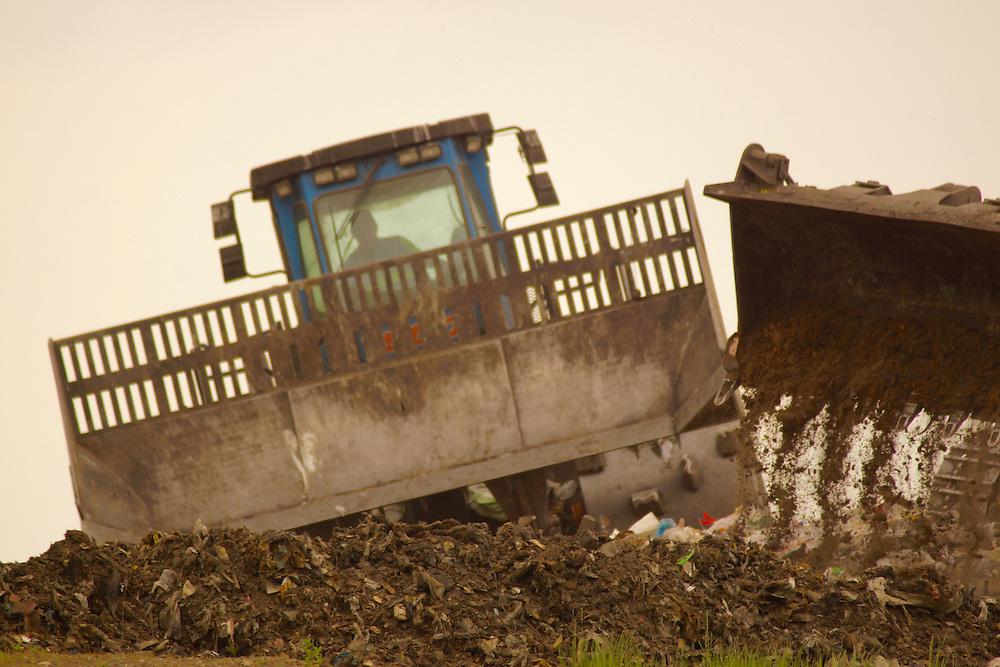 Northcentral Pennsylvania, Bulldozer, Landfill, Bradford Co., PA