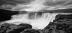 The waterfall Godafoss, north east of Iceland - Goðafoss