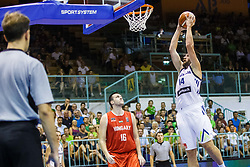 Gasper Vidmar of Slovenia during friendly basketball match between National teams of Slovenia and Hungary on day 1 of Adecco Cup 2017, on August 4th in Arena Tabor, Maribor, Slovenia. Photo by Grega Valancic/ Sportida
