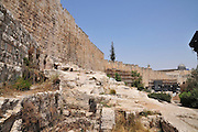 Israel, Jerusalem, Archaeological Park at the foot of the southern wall of the Temple Mount