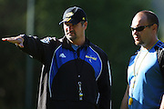 Hurricanes coach Colin Cooper and forwards coach Greg Feek.<br /> Super 14 - Hurricanes training session, at Rugby League Park, Wellington. Wednesday, 21 May 2008. Photo: Dave Lintott/PHOTOSPORT