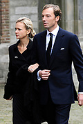 De koninklijke familie en tal van vrienden, bekenden en collega's van prins Friso zijn samengekomen in de Oude Kerk in Delft om de op 12 augustus overleden prins Friso te herdenken. <br /> <br /> The royal family and many friends, acquaintances and colleagues of Prince Friso are in the Old Church in Delft to commemorate the Prince who past away on August 12 2013.<br /> <br /> Op de foto / On the photo:  Princess Caroline de Bourbon de Parme Brenninkmeijer and Albert Brenninkmeijer